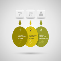Infographics design with green yellow ellipse elements