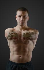 A young Thai boxer