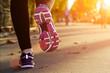 Fitness Girl running at sunset - 80692935