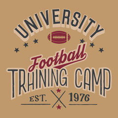 University football training camp