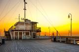 Sunrise at the pier in Sopot, Poland.
