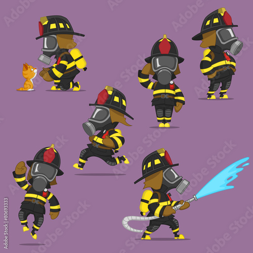 set of firefighters - 80693333