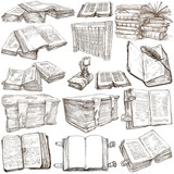 Books. Pack of an hand drawn illustrations - 80693763