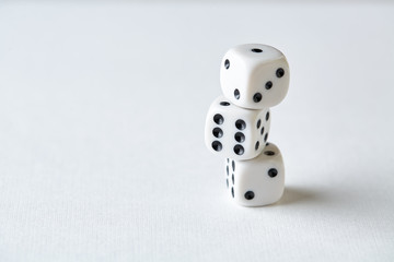 dices on table