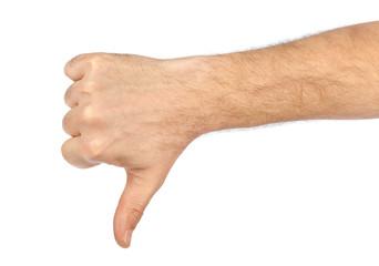 Gesturing hand