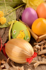 EASTER EGGS DECORATED AND COLORED
