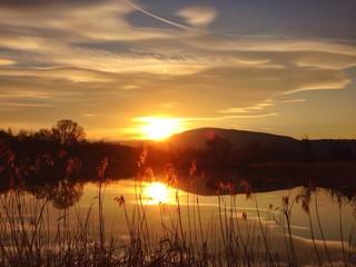 lago d'Iseo al tramonto