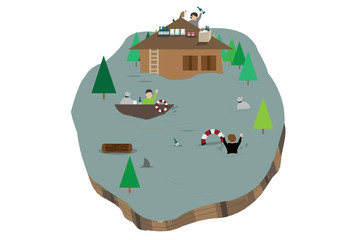 Island flood