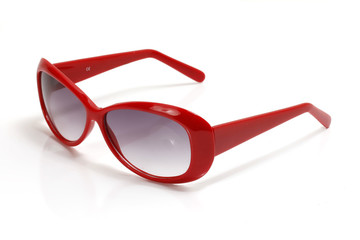rote Sonnenbrille