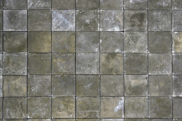 Aligned photo of stylish paving slabs / textured floor tile