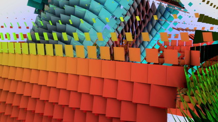 Three-dimensional Colorful Abstract Video Background.