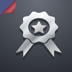 Award, Medal of Honor icon symbol. 3D style. Trendy, modern desi