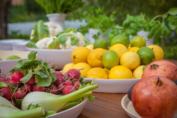 ecological, organic fruit and vegetables,
