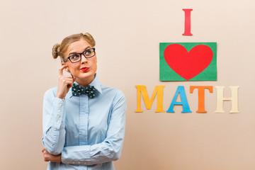 Mathematician thinking