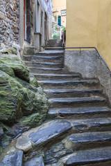street in Vernazza village