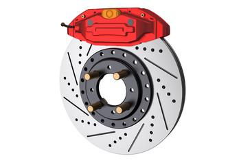 Car disc brake and caliper