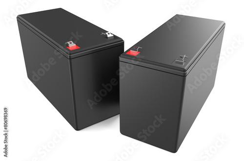 Leinwanddruck Bild Sealed UPS batteries