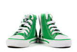 Pair of fashionable sneakers isolated