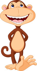 Illustration of funny Monkey cartoon