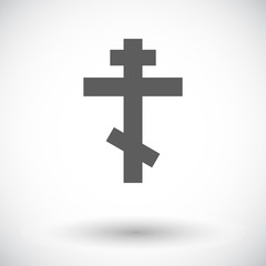 Cross single flat icon.