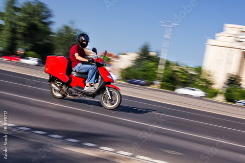 Scooter delivery boy - 80699712