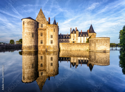 The chateau (castle) of Sully-sur-Loire, France