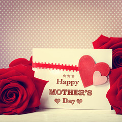 Happy Mothers Day message with roses