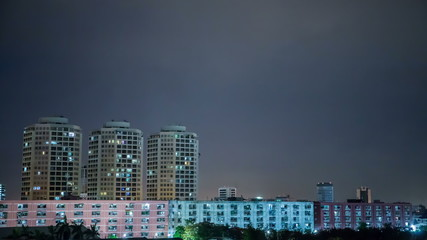 The city was a rain storm.