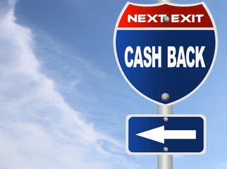 Cash back road sign