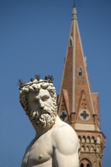detail of the fountain of Neptune in Florence-2