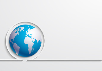 Vector modern earth day background.