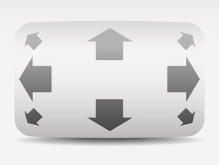 Navigation Button with Vertical, Horizontal and Diagonal Arrows.