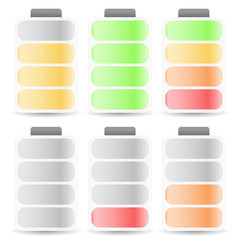 Battery Level Indicator Set Color Coded