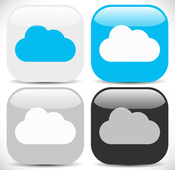 Cloud Icons in Different Colors
