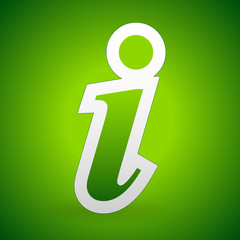 Info, Information icon background in bright green