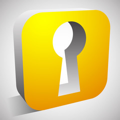 Keyhole Icon for Privacy, Access, Security concepts.