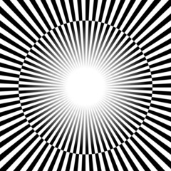 Black and white Rays, starburst background with alternating, che