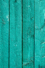 Green painted wooden fence