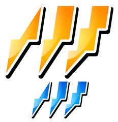 Thunderbolt, Lightening Icons