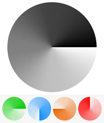 Circular Elements with Transparency (Opacity Mask with Gradient