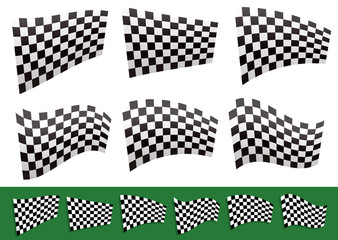 Isolated Checkered Flags with Different distortions