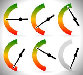 Vertical meters vector template