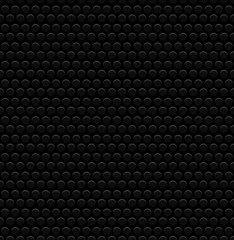 Punched Circles, Perforated Background. Dark, Black Carbon Like