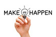 Make Ideas Happen Concept