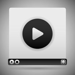 Video Player Template. Black Color Scheme