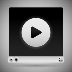 Video Player Template. White Color Scheme
