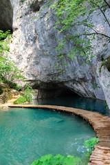 cave in Plitvice Lakes, Croatia