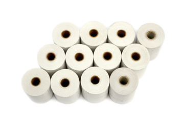 Group of paper rolls