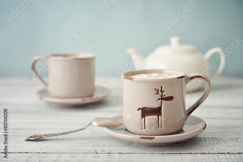 Foto op Canvas Koffie Hot chocolate