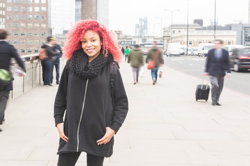 Beautiful redhair woman portrait in London